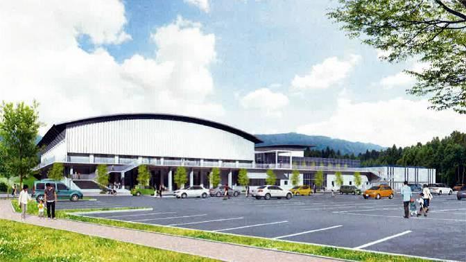 陸前高田市総合交流センター新築工事 パース